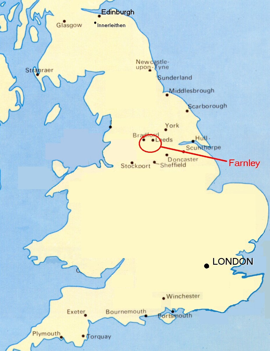 Map of United Kingdom showing Leeds etc.   CitiesTips.com
